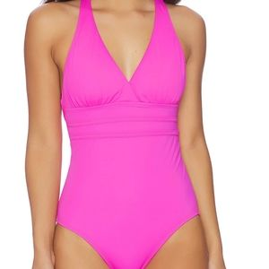 Athena pink one piece bathing suit